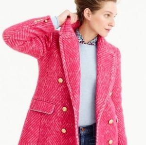 J Crew Sorbet Pink Diamond Tweed Coat 2